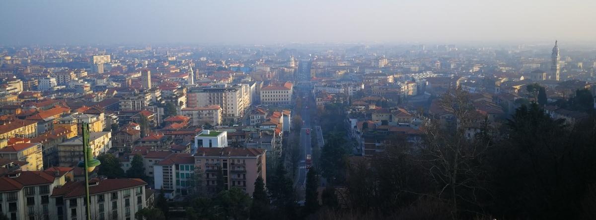 bergamo city panorama